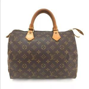 Louis Vuitton Speedy 30 Bag +Dust Bag +LV LOCK